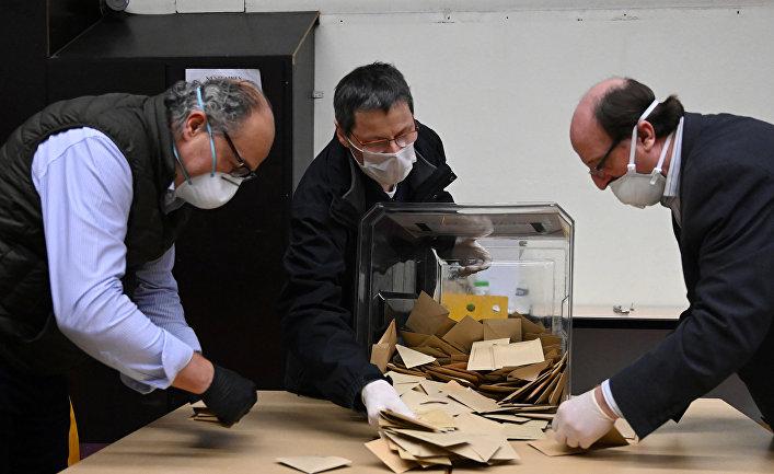 Подсчет бюллетеней после первого тура выборов