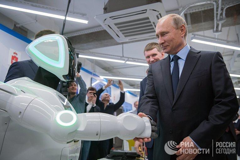 Рабочая поездка президента РФ В. Путина в Пермь