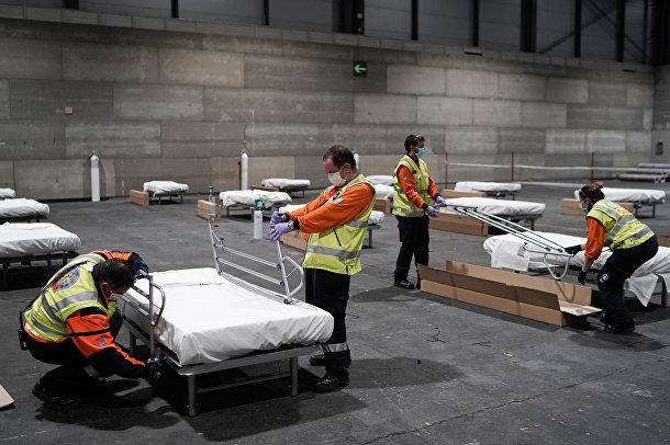 Временный госпиталь в Мадриде