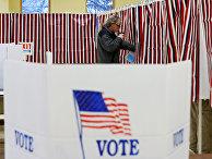 Избирательный участок в Алленстауне, штат Нью-Гэмпшир, США