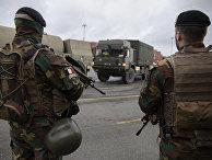 Подготовка к военным учениям Defender Europe 2020 в Антверпене, Бельгия