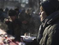 Акция по выдаче питания лицам без определенного места жительства