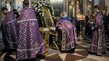 Мощи Иоанна Крестителя выставлены в Казанском соборе Санкт-Петербурга
