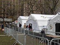 Полевой госпиталь в Центральном парке Нью-Йорка