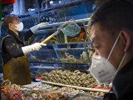 Продовольственный рынок в Пекине, Китай