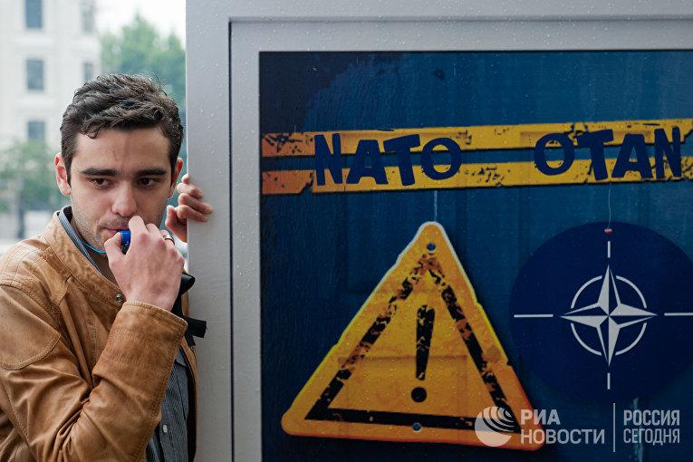 Акция против вступления Грузии в НАТО