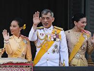 Принцесса Таиланда Сириваннавари Нариратана, король Таиланда Маха Ваджиралонгкорн и королева Таиланда Сутида