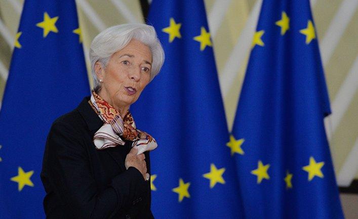 Президент Европейского центрального банка Кристин Лагард на саммите глав государств и правительств Евросоюза в Брюсселе