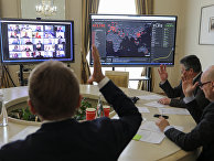 Общение в Zoom во время видеоконференции на Украине