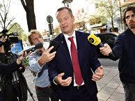 Министр энергетики и цифрового развития Швеции Андерс Игеман дает интервью в Стокгольме, Швеция