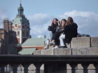 Молодые люди в Стокгольме, Швеция