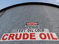 Резервуар для хранения сырой нефти в Ментоне, Техас, США