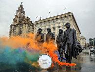 Памятник The Beatles в Ливерпуле, Великобритания