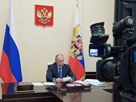 Президент РФ В. Путин принял участие во встрече глав ЕАЭС в формате видеоконференции