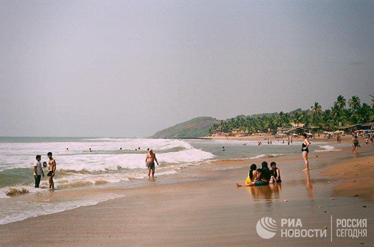 Пляж Анжуна в Гоа