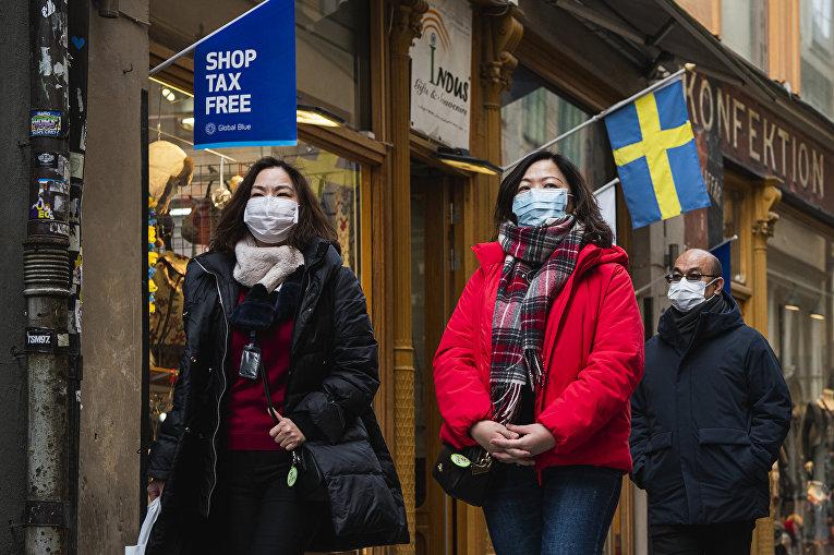 Туристы в Стокгольме, Швеция