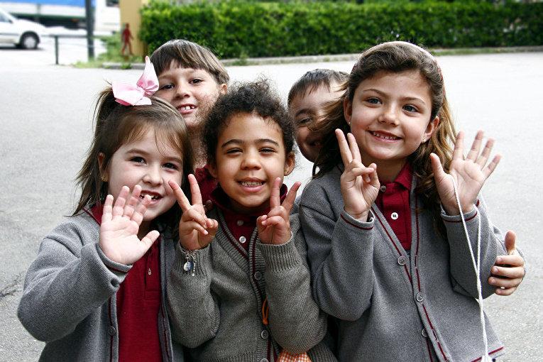 Ученики одной из барселонских школ