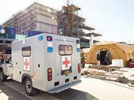 9 апреля 2020. Скорая помощь для больных коронавирусом в Хельсингборге, Швеция