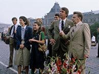 Саманта Смит с родителями на Красной площади