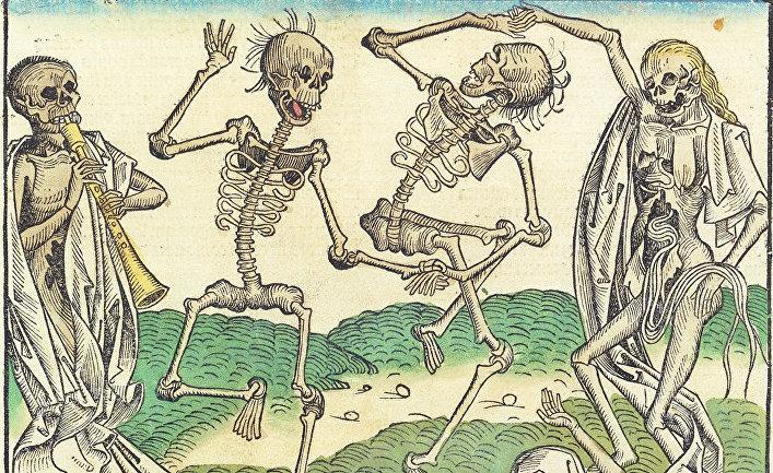 «Пляска Смерти». Иллюстрация из «Нюрнбергской хроники»