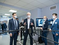 Мэр Москвы Сергей Собянин во время посещения Московского референс-центра лучевой диагностики
