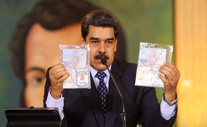 Президент Венесуэлы Николас Мадуро во время пресс-конференции в Каракасе