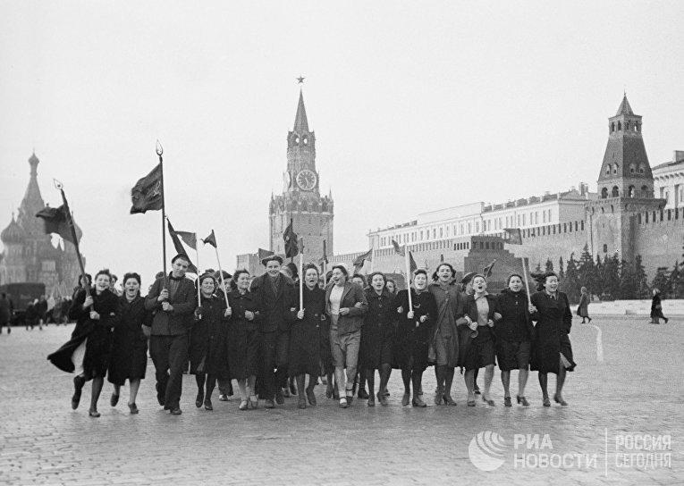 9 мая 1945 г. на Красной площади
