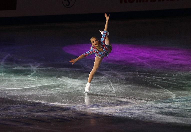 29 января 2012. Финская фигуристка Киира Корпи на Чемпионате Европы