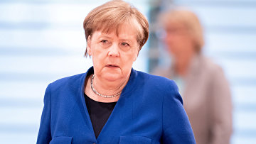 13 мая 2020. Ангела Меркель на заседании правительства в Берлине, Германия