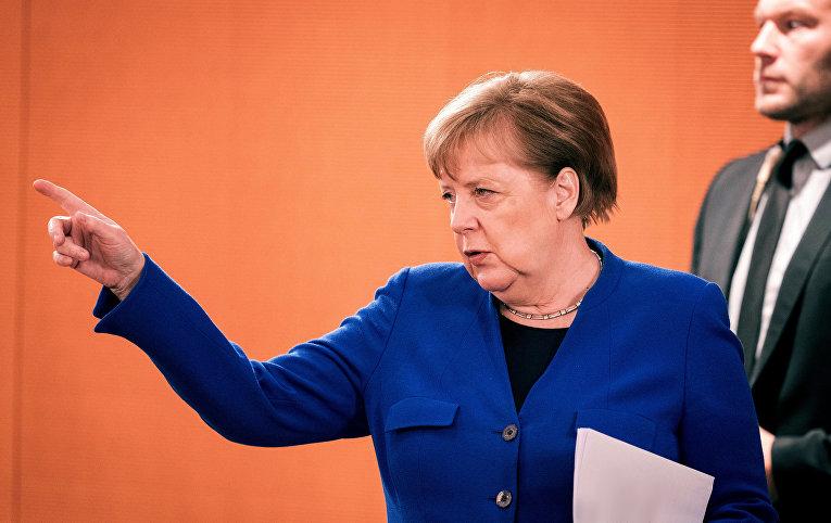 13 мая 2020. Ангела Меркель на заседании кабинета министров в Берлине, Германия