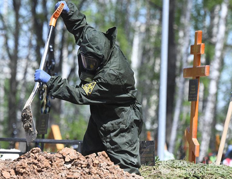 Похороны умерших от коронавируса в Москве