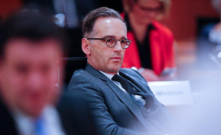 6 мая 2020. Министр иностранных дел Германии Хайко Маас на совещании в кабинете министров, Берлин, Германия