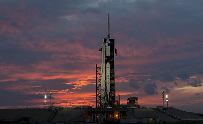 Закат над стартовой площадкой