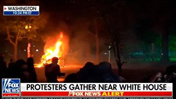 Протестующие подожгли церковь Святого Иоанна в Вашингтоне