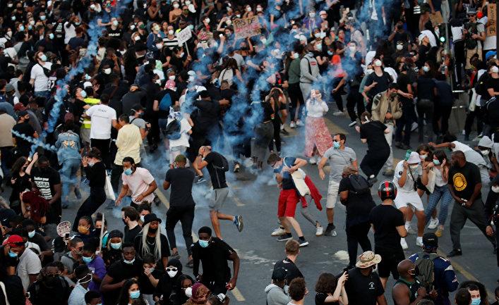 2 июня 2020. Протесты и беспорядки в Париже, Франция