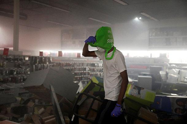 Магазин канцелярских товаров после ограбления