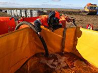 3 июня 2020. Ликвидация последствия разлива дизельного топлива недалеко от Норильска