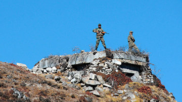 Военнослужащие индийской армии на индийско-китайской границе
