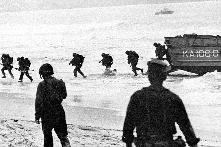 Высадка американских военных во Вьетнаме