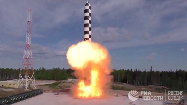 """Испытание новой баллистической ракеты """"Сармат"""""""