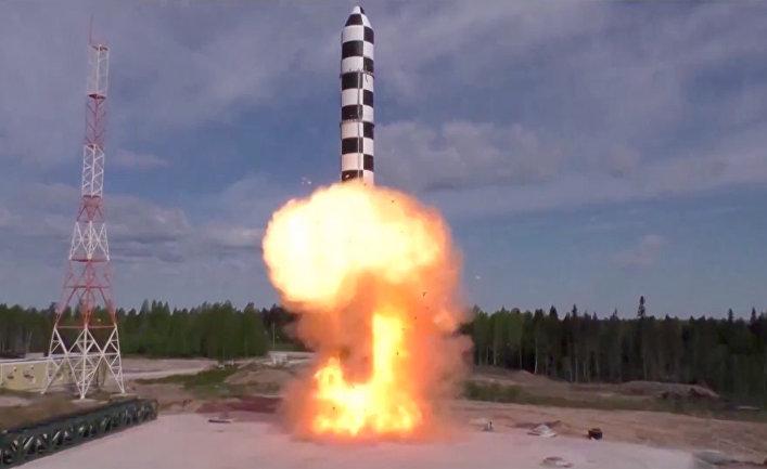 Испытание новой баллистической ракеты
