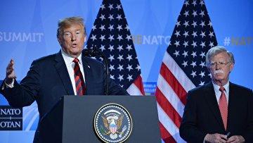 Пресс-конференция президента США Д. Трампа на саммите НАТО