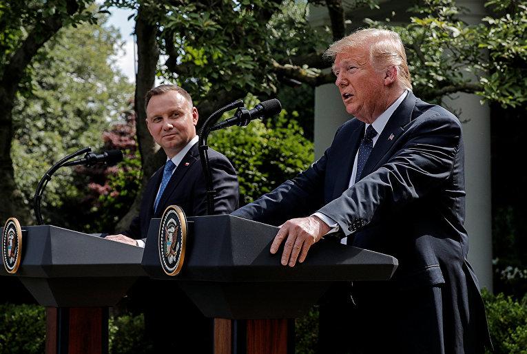 24 июня 2020. Пресс-конференция Дональда Трампа и Анджея Дуды в Вашингтоне, США