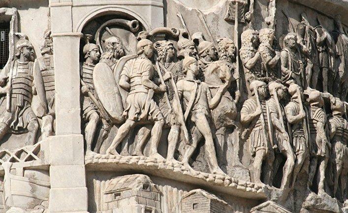 Деталь из колонны Марка Аврелия в Риме