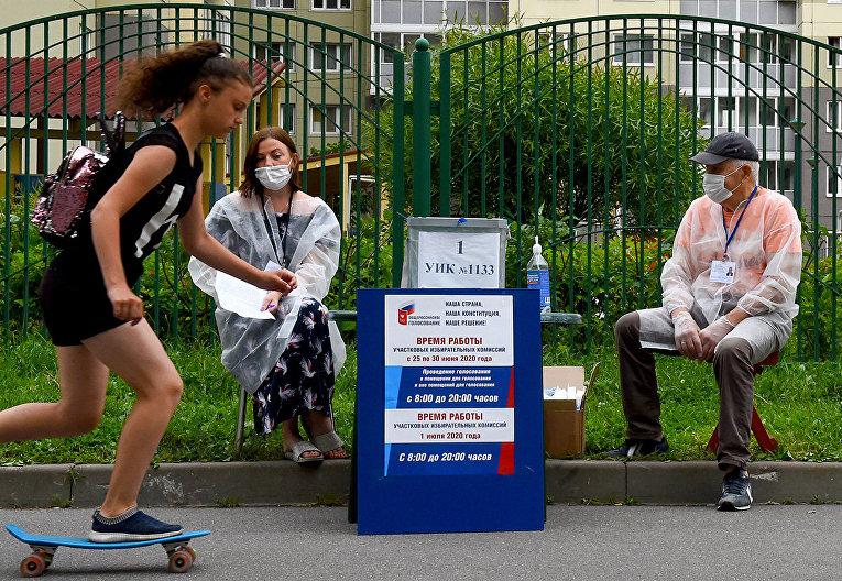 Мобильный избирательный участок в Санкт-Петербурге