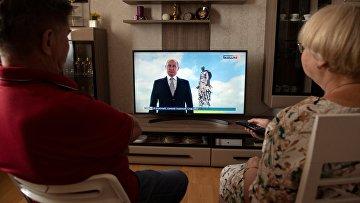 Президент РФ В. Путин выступил с обращением к гражданам России