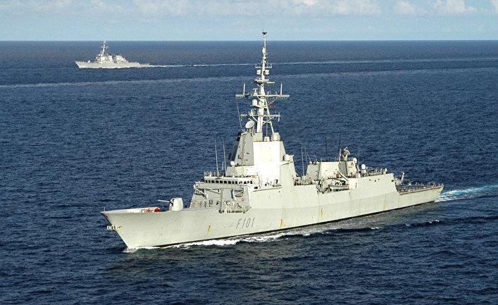 Испанский фрегат «Альваро де Базан»
