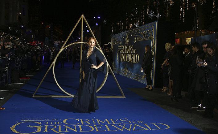 Джоан Роулинг на премьере фильма «Фантастические твари»