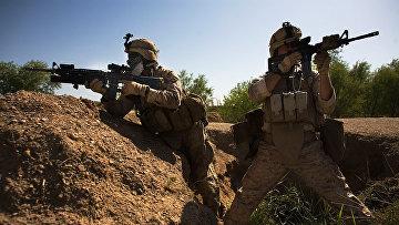 Американские военные в Мардже, Афганистан