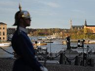 Часовой у королевского дворца в Стокгольме